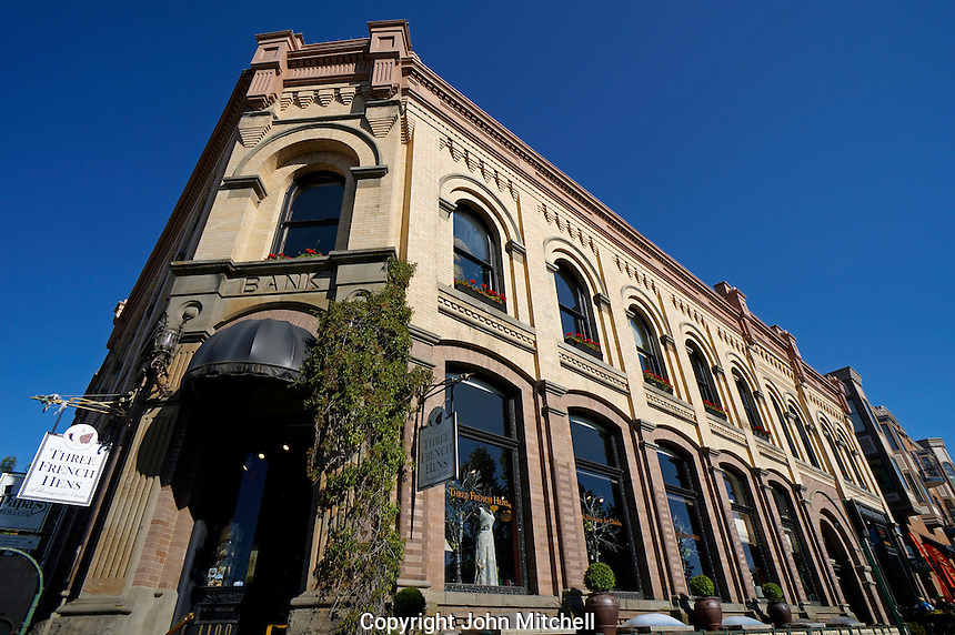 Nelson Block in the historical Fairhaven district of Bellingham, Washington state, USA