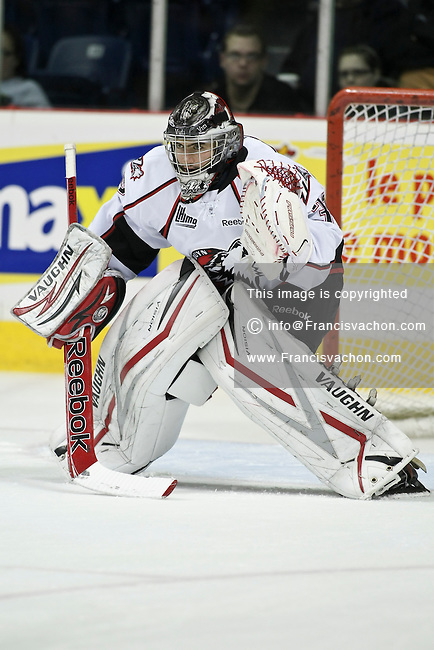 QMJHL (LHJMQ) hockey profile photo on Rouyn-Noranda Huskies Robin Gusse October 7, 2011 at the Colisee Pepsi in Quebec city.