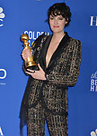 Phoebe Waller-Bridge 135 poses in the press room with awards at the 77th Annual Golden Globe Awards at The Beverly Hilton Hotel on January 05, 2020 in Beverly Hills, California.