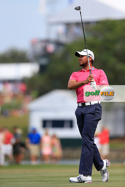 Jason Day (AUS) on the 9th during the final round of the Players, TPC Sawgrass, Championship Way, Ponte Vedra Beach, FL 32082, USA. 15/05/2016.<br /> Picture: Golffile | Fran Caffrey<br /> <br /> <br /> All photo usage must carry mandatory copyright credit (&copy; Golffile | Fran Caffrey)
