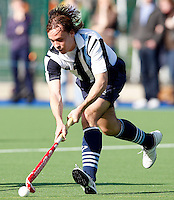 Jaime Gonzalez-Laguillo in action for Hampstead during the England Hockey League Mens Semi-Final Cup game between Hampstead & Westminster and Sevenoaks at the Paddington Recreation Ground, Maida Vale on Sun March 21, 2010