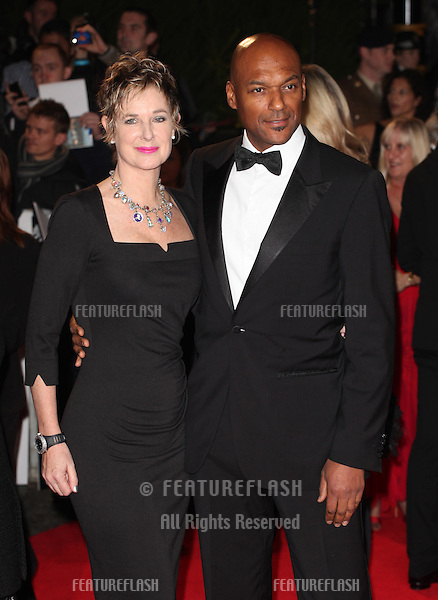 Colin Salmon and wife arriving for the Royal World Premiere of 'Skyfall' at Royal Albert Hall, London. 23/10/2012 Picture by: Alexandra Glen / Featureflash