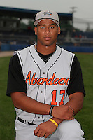 Aberdeen Ironbirds Pedro Beato poses for a photo before a NY-Penn League game at Dwyer Stadium on July 20, 2006 in Batavia, New York.  (Mike Janes/Four Seam Images)