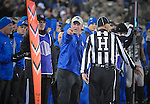 November 12, 2016 - Colorado Springs, Colorado, U.S. -  Air Force head coach, Troy Calhoun, argues for a pass interference call during the NCAA Football game between the Colorado State University Rams and the Air Force Academy Falcons, Falcon Stadium, U.S. Air Force Academy, Colorado Springs, Colorado.  Air Force defeats Colorado State 49-46.