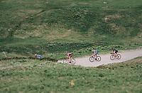 the descent of the Cormet de Roselend (1977m)<br /> <br /> Stage 7: Moûtiers > Saint-Gervais Mont Blanc (129km)<br /> 70th Critérium du Dauphiné 2018 (2.UWT)