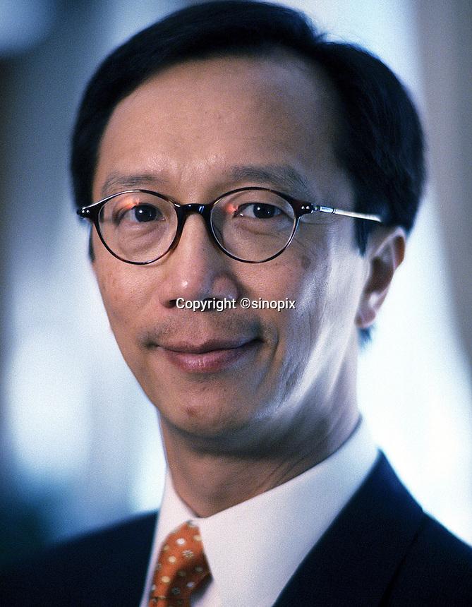 Former Hong Kong Financial Secretary Antony Leung in Hong Kong in June 2002<br /> <br /> Photo by Marcus Oleniuk/sinopix<br /> ©sinopix
