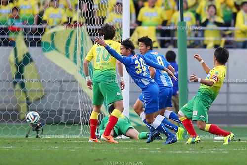 Masato Yamazaki (Montedio),<br /> December 7, 2014 - Football /Soccer : <br /> 2014 J.LEAGUE Road to J1 Play-offs Final <br /> match between JEF United Ichihara Chiba - Montedio Yamagata<br /> at Ajinomoto Stadium, Chiba, Japan. <br /> (Photo by AFLO SPORT) [1195]