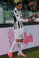 Esultanza dopo il gol di Carlos Tevez Juventus, Goal Celebration, Torino 26-3-2014, Juventus Stadium, Football Calcio 2013/2014 Serie A, Juventus - Parma, Foto Marco Bertorello/Insidefoto