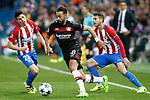 Atletico de Madrid's Angel Correa (l) and Lucas Hernandez (r) and Bayer 04 Leverkusen's Karim Bellarabi during Champions League 2016/2017 Round of 16 2nd leg match. March 15,2017. (ALTERPHOTOS/Acero)