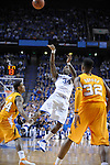 UK's DeAndre Liggins is fouled while shooting a three pointer during the first half of the University of Kentucky Men's basketball game against Tennessee at Rupp Arena in Lexington, Ky., on 2/8/11. Uk led at half 35-28. Photo by Mike Weaver | Staff