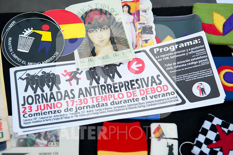 Expression of the Spanish trade unions against cuts and closures of public services.Political objetcs..(Alterphotos/Ricky)