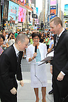 As The World Turns' Colleen Zenk is ordained Universal Life Church minister who officiated the wedding of We Love Soaps Kevin Mulcahy Jr  (L) and Roger Newcomb on August 18, 2012 in Times Square, New York City, New York. (Photos by Sue Coflin/Max Photos)