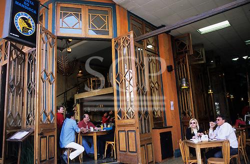 Sao Paulo, Brazil. Quinta do Mandioca, a chic restaurant on Rua Oscar Freire, a major shopping street.