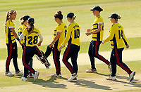 South East Stars celebrate taking the wicket of Amara Carr during Sunrisers vs South East Stars, Rachael Heyhoe Flint Trophy Cricket at The Cloudfm County Ground on 13th September 2020