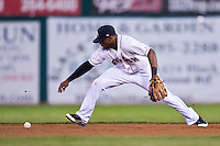 August 7,2010 Eric Young Jr (3) in action during the MiLB game between the New Orleans Zephyrs and the Colorado Springs Sky Sox at Security Service Field in Colorado Springs Colorado.
