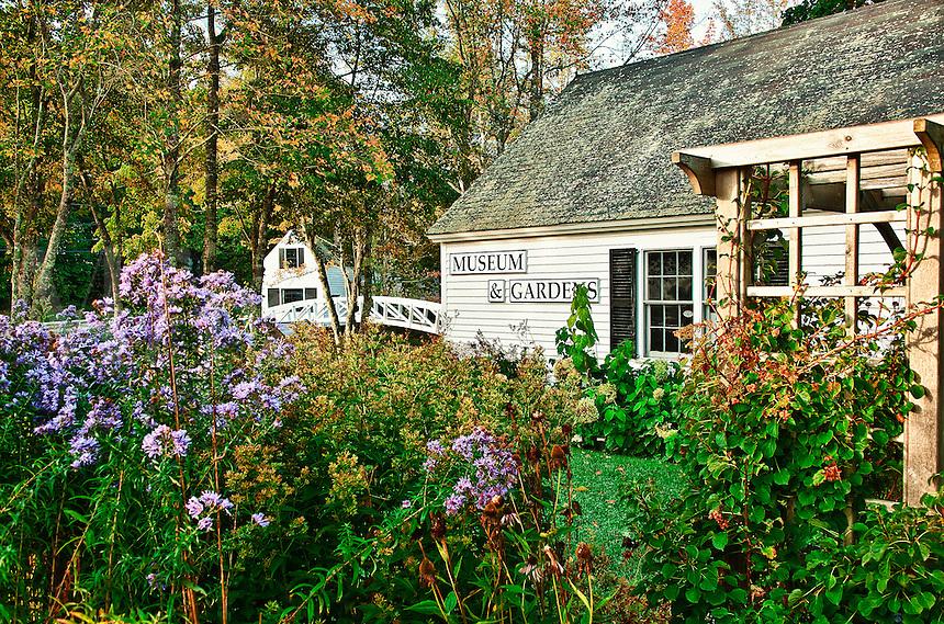 Footbridge and museum, Somesville,  Maine