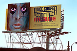 Alice Cooper billboard on the Sunset Strip in Los Angeles, CAlifornia