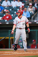 Louisville Bats catcher Chris Berset (10) at bat during a game against the Buffalo Bisons on June 22, 2016 at Coca-Cola Field in Buffalo, New York.  Buffalo defeated Louisville 8-1.  (Mike Janes/Four Seam Images)