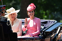 Camilla, Duchess of Cornwall &amp; Catherine, Duchess of Cambridge arriving at Horse Guards Parade on The Mall for the Trooping the Colour Ceremony celebrating the Queen's official birthday. London, UK. <br /> 17 June  2017<br /> Picture: Steve Vas/Featureflash/SilverHub 0208 004 5359 sales@silverhubmedia.com