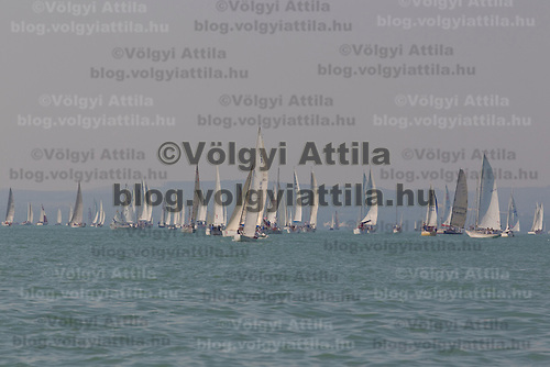 42nd Blue Ribbon Regattta race along the 160 km course around Lake Balaton near Balatonfured, 150 km (93 miles) west of Budapest. Hungary. Friday, 02. July 2010. ATTILA VOLGYI
