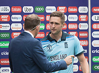 Chris Woakes (England) voted man of the match during Australia vs England, ICC World Cup Semi-Final Cricket at Edgbaston Stadium on 11th July 2019