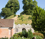 Prehistoric mound in the grounds of Marlborough College school, Marlborough, Wiltshire, England, UK