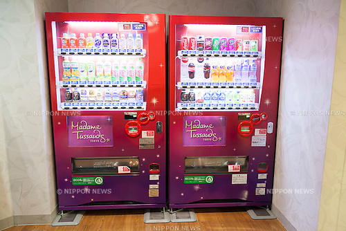 Vending machines on display at the Madame Tussauds Tokyo wax museum in Odaiba, Tokyo, June 15, 2015. The world famous British wax museum ''Madame Tussauds'' opened its 14th permanent branch in Tokyo in 2013 and exhibits international and local celebrities, sports players and politicians. New additions to the collection include wax figures of the Japanese figure skater Yuzuru Hanyu and the actor Benedict Cumberbatch. The wax figure of Benedict Cumberbatch will be exhibited until June 30th. (Photo by Rodrigo Reyes Marin/AFLO)