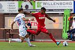 20.07.2019, Heinz Detmar Stadion, Lohne, GER, Interwetten Cup, VfL Osnabrueck vs 1. FC Koeln<br /> <br /> im Bild / picture shows <br /> <br /> Kingsley Schindler (Koeln #11)<br /> Anas Ouahim (VfL Osnabrueck #10)<br /> Foto © nordphoto / Kokenge