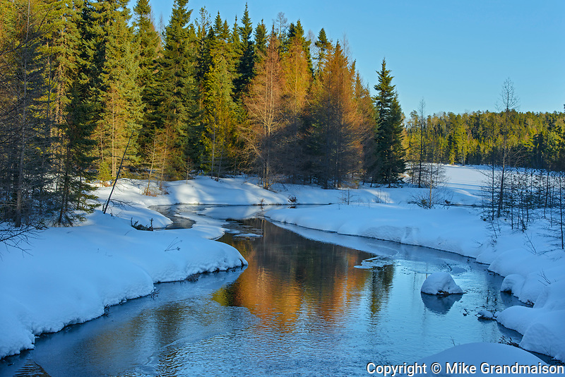 Last light on creek in winter<br />