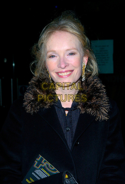 LINDSAY DUNCAN.The Fast Forward Gala Fundraiser at The Roundhouse, London, UK..March 1st, 2007.headshot portrait fur collar .CAP/CAN.©Can Nguyen/Capital Pictures