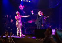 Lady Gaga and Tony Bennett in concert on the Grand-Place in Brussels - Belgium