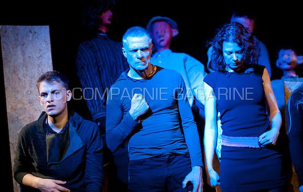 """Theatre company De Reynaertghesellen playing """"Staat Van Beleg"""" from Albert Camus, directed by Jo Verhenneman (Belgium, 10/03/2015)"""