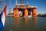 Stena Spey oil rig platform being repaired in Keppel Verome shipyard, Botlek, Port of Rotterdam, Netherlands
