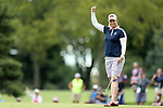 DES MOINES, IA - AUGUST 20: USA's Brittany Lincicome reacts after a birdie putt on the 9th hole during her singles match Sunday morning at the 2017 Solheim Cup in Des Moines, IA. (Photo by Dave Eggen/Inertia)