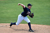 Tampa Yankees pitcher Eric Ruth (17) during a game against the Daytona Cubs on April 13, 2014 at George M. Steinbrenner Field in Tampa, Florida.  Tampa defeated Daytona 7-3.  (Mike Janes/Four Seam Images)