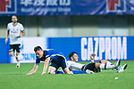 FC Schalke Midfielder Yevhen Konoplyanka (R) trips up with FC Schalke Forward Fabian Reese (L) during the Friendly Football Matches Summer 2017 between FC Schalke 04 Vs Besiktas Istanbul at Zhuhai Sport Center Stadium on July 19, 2017 in Zhuhai, China. Photo by Marcio Rodrigo Machado / Power Sport Images
