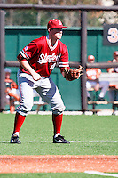 AUSTIN, TEXAS-March 6, 2011:  Eric Smith of Stanford plays second base during the game against the Texas Longhorns, at Disch-Falk field in Austin, Texas.  Texas defeated Stanford 4-2.