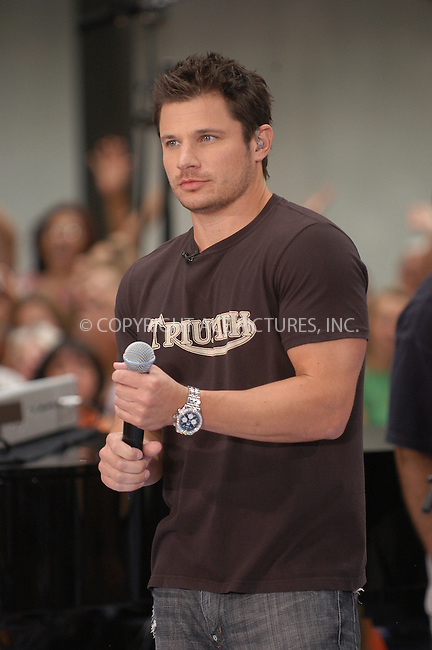 WWW.ACEPIXS.COM . . . . . ....July 3, 2007, New York City. ....Nick Lachey performs on the NBC 'Today' Show. ....Please byline: KRISTIN CALLAHAN - ACEPIXS.COM.. . . . . . ..Ace Pictures, Inc:  ..(212) 243-8787 or (646) 769 0430..e-mail: info@acepixs.com..web: http://www.acepixs.com