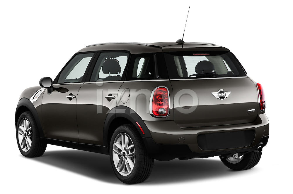 Rear three quarter view of a 2011 - 2014 Mini Cooper Countryman SUV.