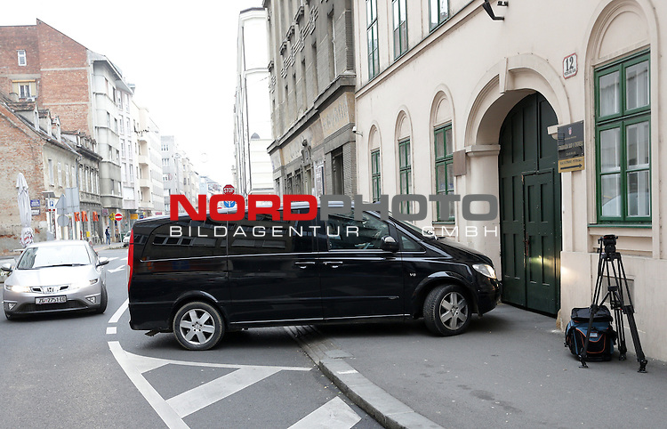 01.01.2014., Zagreb, Croatia - On January 1st European Arrest Warrant came into effect in Croatia. Croatia arrested former spy Josip Perkovic who is sought by Germany. He will be extradited to Germany. Josip Perkovic coming to County Court. <br /> Foto &not;&copy;  nph / PIXSELL / Petar Glebov