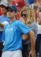 FLUSHING NY- SEPTEMBER 5: Brooklyn Decker reacts after her husband Andy Roddick losing his last match to Juan Martin Del Potro on Armstrong stadium at the USTA Billie Jean King National Tennis Center on September 5, 2012 in in Flushing Queens. Credit: mpi04/MediaPunch Inc. ***NO NY NEWSPAPERS*** /NortePhoto.com<br />