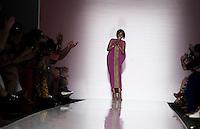 Aisha Obuobi, fondatrice del marchio di abbigliamento ghanese Christie Brown durante la rassegna ITC's Ethical Fashion Initiative con Altaroma a Roma, 7 luglio 2013.<br /> Aisha Obuobi, founder of the Ghanaian based luxury women's fashion brand Christie Brown during the ITC's Ethical Fashion Initiative and  Altaroma in Rome, 7 July 2013.<br /> UPDATE IMAGES PRESS/Virginia Farneti
