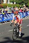 Team Poland rider on the Harrogate circuit during the Women Elite Road Race of the UCI World Championships 2019 running 149.4km from Bradford to Harrogate, England. 28th September 2019.<br /> Picture: Andy Brady | Cyclefile<br /> <br /> All photos usage must carry mandatory copyright credit (© Cyclefile | Andy Brady)
