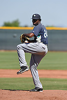 Seattle Mariners pitcher Ramire Cleto (24) during an Instructional League game against the Cleveland Indians on October 1, 2014 at Goodyear Training Complex in Goodyear, Arizona.  (Mike Janes/Four Seam Images)