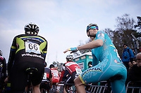 Lars Boom (NLD/Astana) for the first time in years participating in a cross and all the way back on the start grid (because not having earned UCI points earlier in the cx-season)<br /> <br /> UCI Cyclocross World Cup Heusden-Zolder 2015