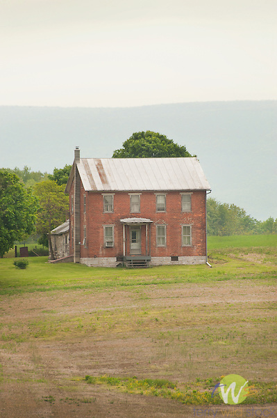 Covered Bridge Road, Cumberland County, PA. Old brick farmhouse.