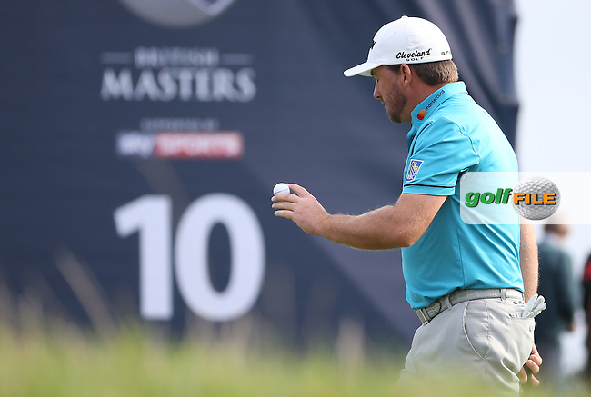 Graeme McDowell (NIR) sinks a birdie at the 10th during Round Three at the The British Masters 2016, at The Grove, Hertfordshire, England. 15/10/2016. Picture: David Lloyd | Golffile.