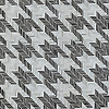 Houndstooth, a hand-cut jewel glass mosaic, backsplash shown in Jasper and Alabaster jewel glass, is part of the Houndstooth Collection by New Ravenna.