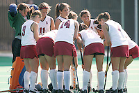 STANFORD, CA - OCTOBER 19:  Alessandra Moss, Xanthe Travlos, Heather Alcorn, Rachel Mozenter, Nora Soza, Camille Gandhi, Hillary Braun, and Jennifer Luther of the Stanford Cardinal during Stanford's 12-0 win over UC Davis on October 19, 2008 at the Varsity Field Hockey Turf in Stanford, California.