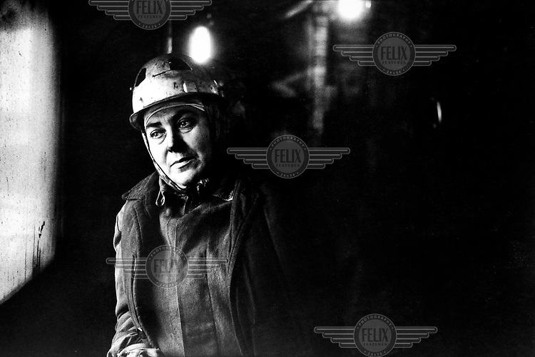 Female surface worker at a coal mine in the Dombas region.